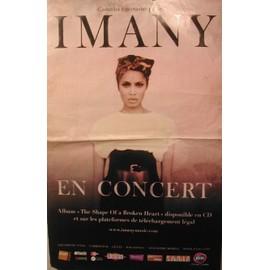 IMANY - 2011 - AFFICHE MUSIQUE / CONCERT / POSTER