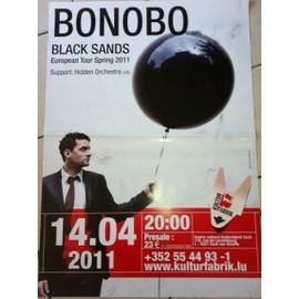 Bonobo - Black Sands - AFFICHE MUSIQUE / CONCERT / POSTER
