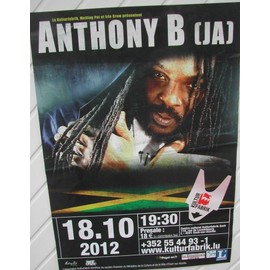 Anthony B - AFFICHE MUSIQUE / CONCERT / POSTER