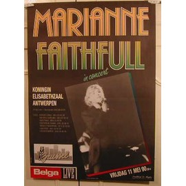 Marriane Faithfull - AFFICHE MUSIQUE / CONCERT / POSTER