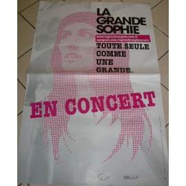 La Grande SOPHIE - AFFICHE MUSIQUE / CONCERT / POSTER