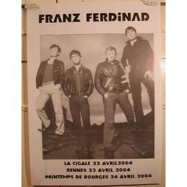 Franz Ferdinand - Verso B2969 - AFFICHE MUSIQUE / CONCERT / POSTER