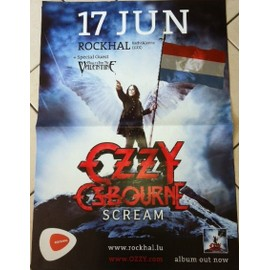 Ozzy Osbourne - Scream - AFFICHE MUSIQUE / CONCERT / POSTER