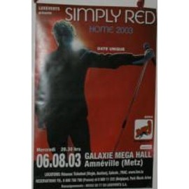 Simply Red - 2003 - AFFICHE MUSIQUE / CONCERT / POSTER