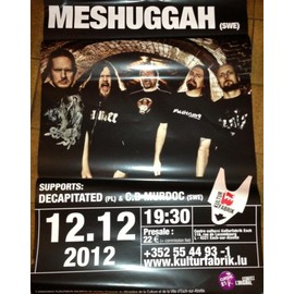 Meshuggah - AFFICHE MUSIQUE / CONCERT / POSTER