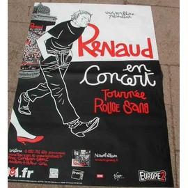 RENAUD - Tournée Rouge Sang - AFFICHE MUSIQUE / CONCERT / POSTER