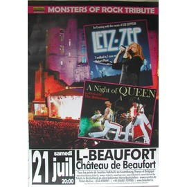 Monsters Of Rock Tribute - Led Zeppelin / Queen - AFFICHE MUSIQUE / CONCERT / POSTER