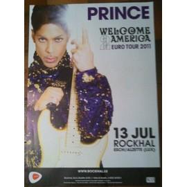 PRINCE - Euro Tour 2011 - AFFICHE MUSIQUE / CONCERT / POSTER