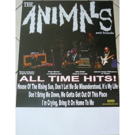 The Animals - AFFICHE MUSIQUE / CONCERT / POSTER