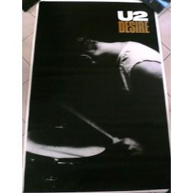 U2 - Desire - AFFICHE MUSIQUE / CONCERT / POSTER
