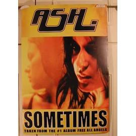 ASH - Sometimes - AFFICHE MUSIQUE / CONCERT / POSTER