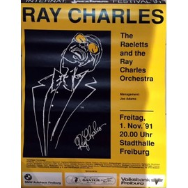 Ray Charles - AFFICHE MUSIQUE / CONCERT / POSTER