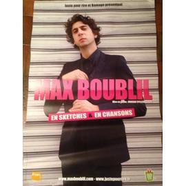 MAX BOUBLIL - AFFICHE MUSIQUE / CONCERT / POSTER