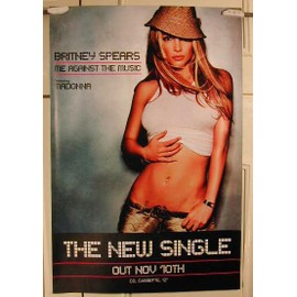 Spears Britney - Feat Madonna - AFFICHE MUSIQUE / CONCERT / POSTER