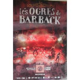 Les Ogres De Barback - La Fabrique A Chansons - AFFICHE MUSIQUE / CONCERT / POSTER