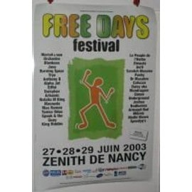 TRYO Festival Free days - Tryo.. 2003 - AFFICHE MUSIQUE / CONCERT / POSTER