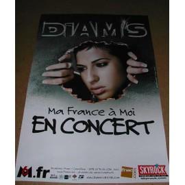 DIAM'S - AFFICHE MUSIQUE / CONCERT / POSTER