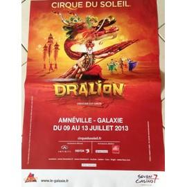 Cirque Du Soleil - DRALION - AFFICHE MUSIQUE / CONCERT / POSTER