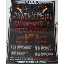 Symphony X - AFFICHE MUSIQUE / CONCERT / POSTER