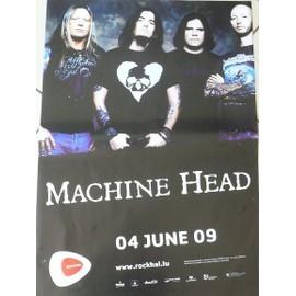 MACHINE HEAD - 2009 - AFFICHE MUSIQUE / CONCERT / POSTER