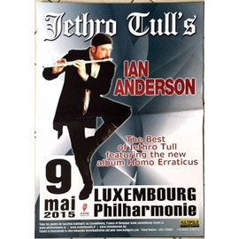 Jethro Tull - Ian Anderson 2015 - AFFICHE MUSIQUE / CONCERT / POSTER