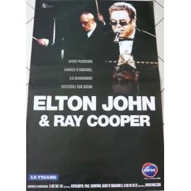 Elton John - Ray Cooper - AFFICHE MUSIQUE / CONCERT / POSTER