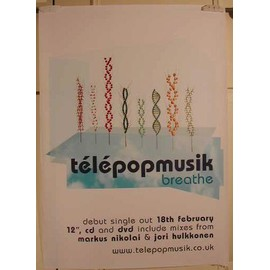 Telepopmusik - Breathe - AFFICHE MUSIQUE / CONCERT / POSTER