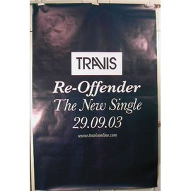 Travis - Re-Offender - AFFICHE MUSIQUE / CONCERT / POSTER