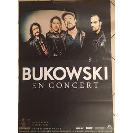 Bukowski - On The Rocks - concert - AFFICHE MUSIQUE / CONCERT / POSTER