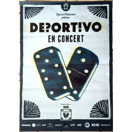 Deportivo - AFFICHE MUSIQUE / CONCERT / POSTER
