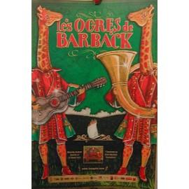 Les Ogres De Barback - AFFICHE MUSIQUE / CONCERT / POSTER