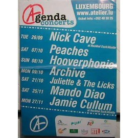 Archive - Nick Cave + others - AFFICHE MUSIQUE / CONCERT / POSTER