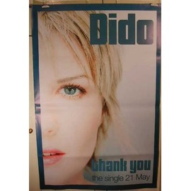 Dido - Thank you - AFFICHE MUSIQUE / CONCERT / POSTER