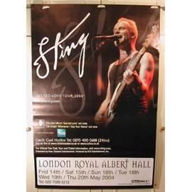 Sting - London - AFFICHE MUSIQUE / CONCERT / POSTER