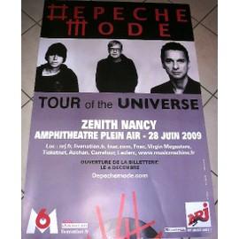 DEPECHE MODE - Tour Of The Universe - AFFICHE MUSIQUE / CONCERT / POSTER