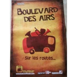 Boulevard Des Airs - AFFICHE MUSIQUE / CONCERT / POSTER
