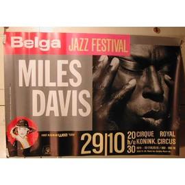 Davis Miles - AFFICHE MUSIQUE / CONCERT / POSTER