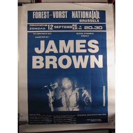 Brown James - AFFICHE MUSIQUE / CONCERT / POSTER