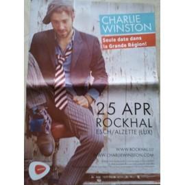 Charlie Winston - En Concert 2012 - AFFICHE MUSIQUE / CONCERT / POSTER