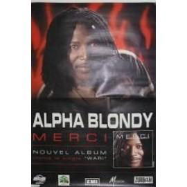 Alpha Blondy - Merci - AFFICHE MUSIQUE / CONCERT / POSTER