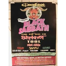 Black Sabbath - Slipknot - AFFICHE MUSIQUE / CONCERT / POSTER
