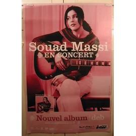 Massi Souad - AFFICHE MUSIQUE / CONCERT / POSTER