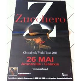 Zucchero - Chocabeck Tour - AFFICHE MUSIQUE / CONCERT / POSTER