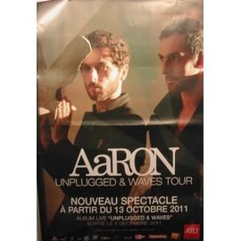 AARON - Unplugged & Waves Tour - AFFICHE MUSIQUE / CONCERT / POSTER