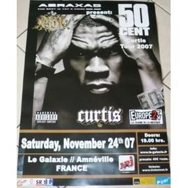 50 Cent - Curtis Tour 2007 - AFFICHE MUSIQUE / CONCERT / POSTER