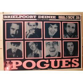 Pogues The - AFFICHE MUSIQUE / CONCERT / POSTER