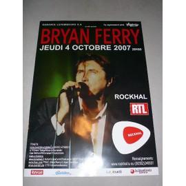 BRYAN FERRY - 2007 - AFFICHE MUSIQUE / CONCERT / POSTER