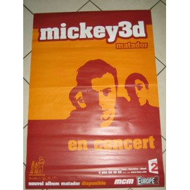 Mickey 3D - AFFICHE MUSIQUE / CONCERT / POSTER