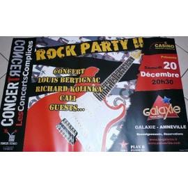 ROCK PARTY - CALI - BERTIGNAC - AFFICHE MUSIQUE / CONCERT / POSTER