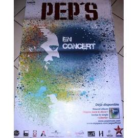 PEP'S - En Concert - AFFICHE MUSIQUE / CONCERT / POSTER